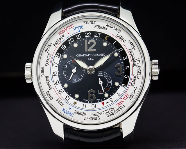 Girard Perregaux 49851 World Time WW.TC Power Reserve Steel Financial Times
