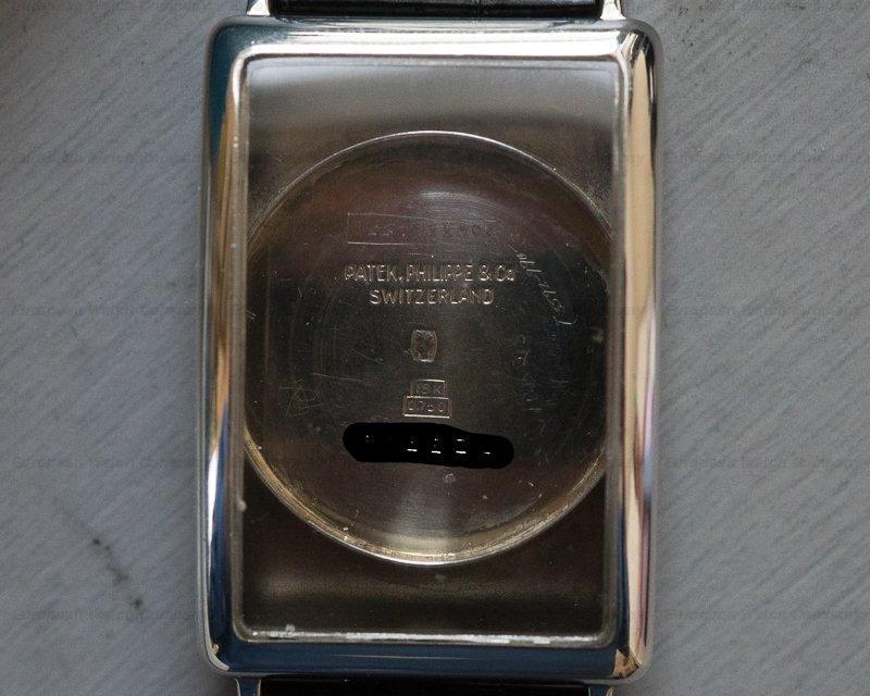 Patek Philippe Rectangular Shape No. 10 Vintage Gondolo White Gold Circa 1927 RARE