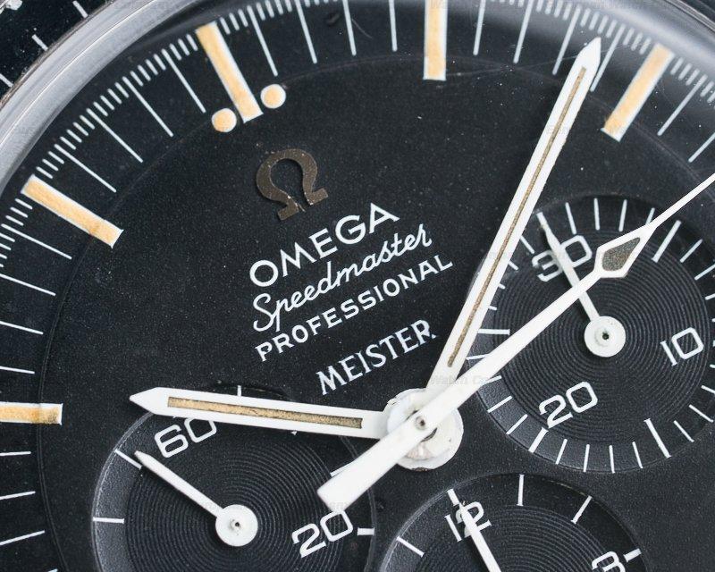 Omega 145.022-68 ST Speedmaster MEISTER SIGNED Dial SS Transitional / 1039 Bracelet