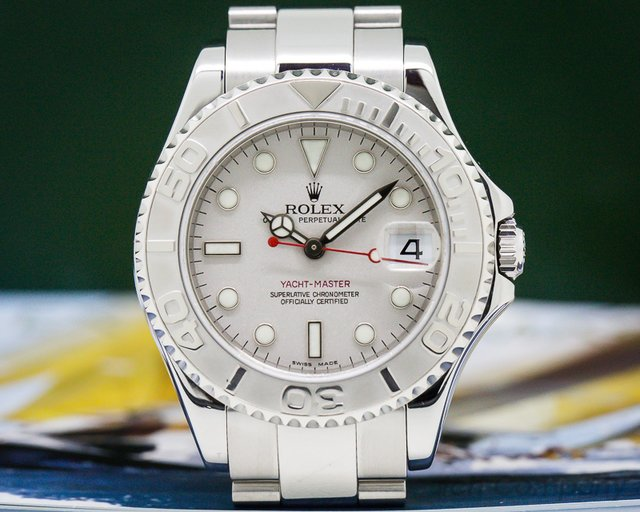 Rolex 168622 Yacht Master Mid Size SS / Platinum Bezel