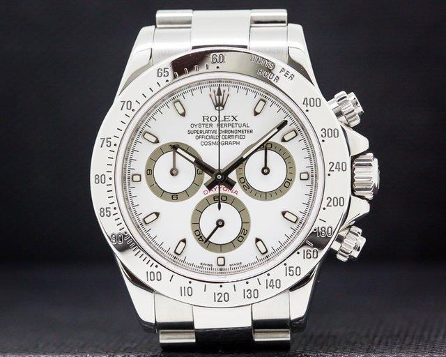 Rolex 116520 Daytona White Dial SS