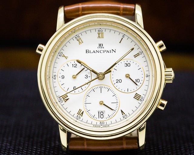 Blancpain 1186-1418-55 Villeret Split Second Chronograph 18K Yellow Gold