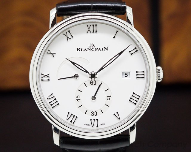 Blancpain 6606A-1127-55B Villeret Small Seconds Date & Power Reserve SS Manual Wind 40MM