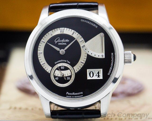 Glashutte Original 65-01-03-03-04 PanoReserve Platinum Black Dial