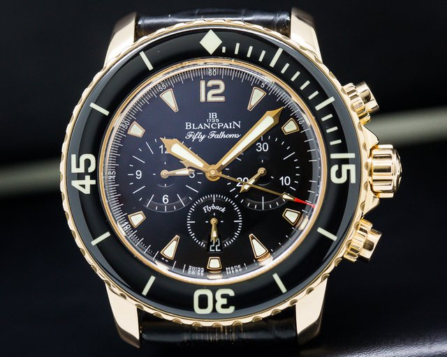 Blancpain 5085F-3630-52 Fifty Fathoms Chronograph 18K Rose Gold