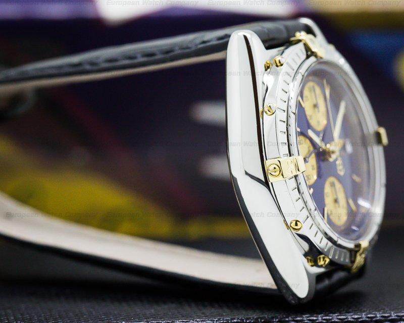 Breitling B13050 Chronomat Chronograph SS / 18K Blue Dial 39MM