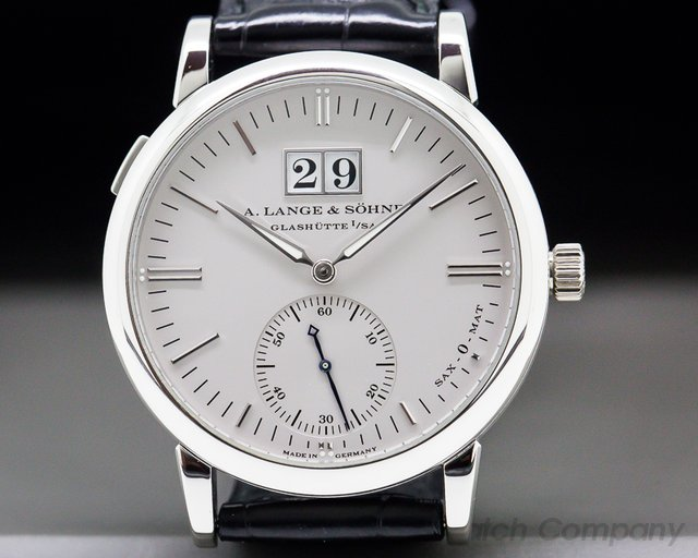 A. Lange and Sohne 308.025 Langematik Sax-O-Mat Big Date Automatic Platinum