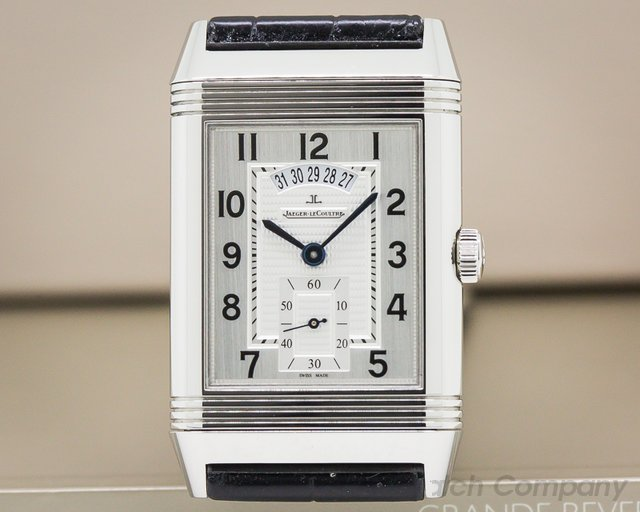 Jaeger LeCoultre Q3748421 Grande Reverso 986 DuoDate Silver Dial SS