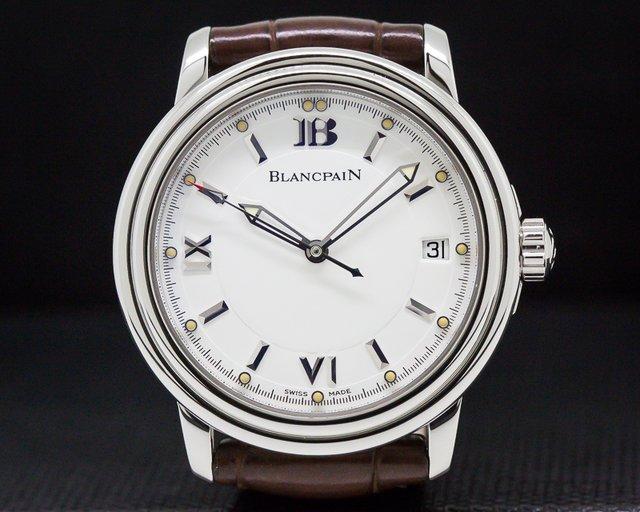 Blancpain 2100-1127-53B Leman SS White Dial / Deployant