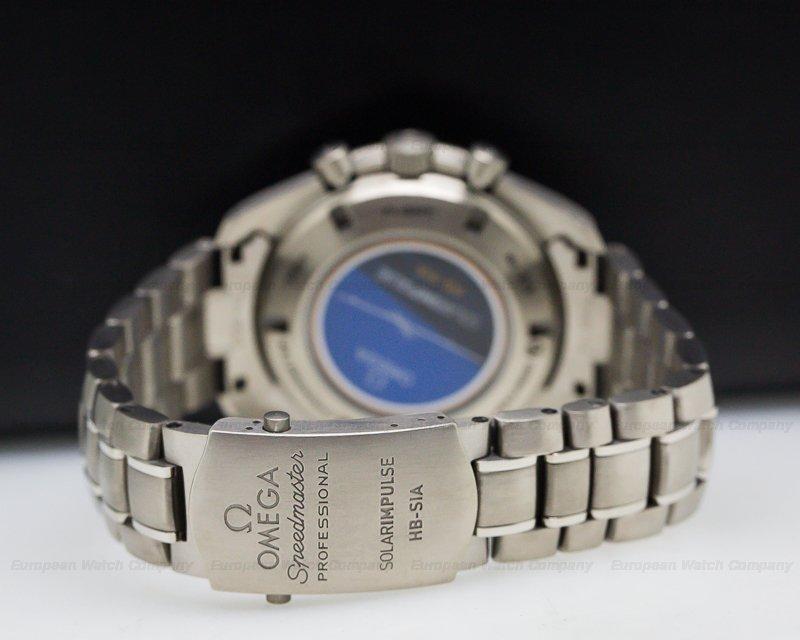 Omega 321.90.44.52.01.001 Speedmaster HB-SIA GMT Chronograph SOLAR IMPULSE Titanium / Carbon Fiber