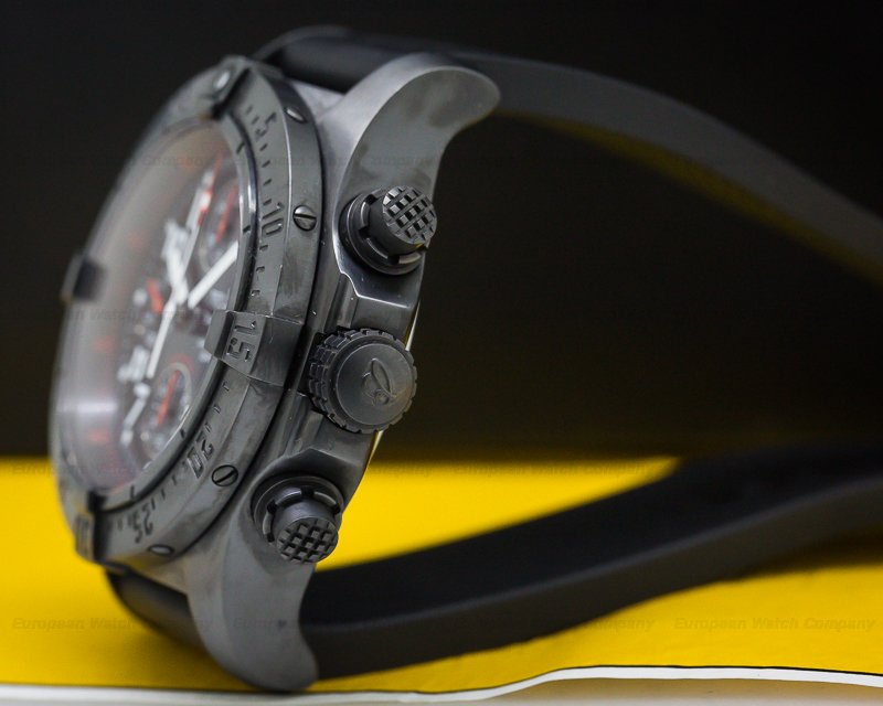 """Breitling M1338010/B864 Avenger Skyland """"Black Steel"""" SS DLC / Rubber"""