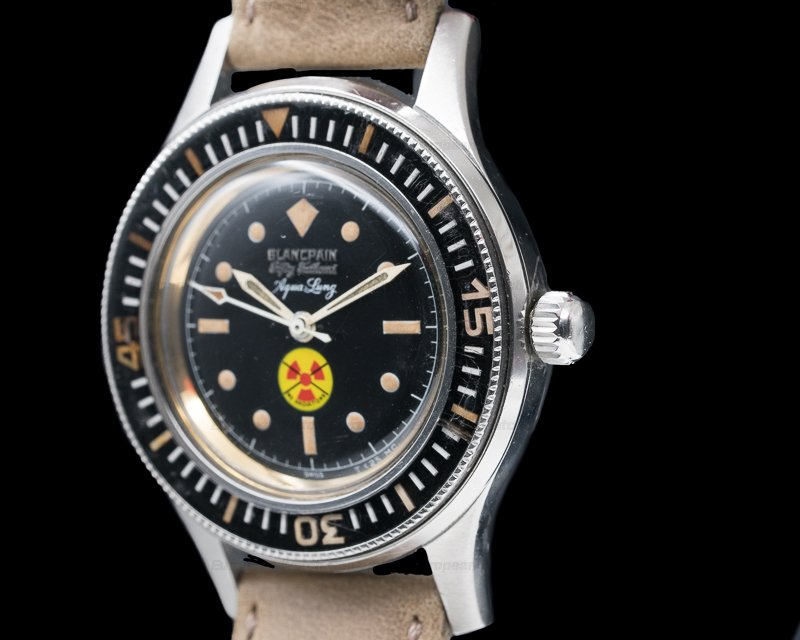 Blancpain Vintage Fifty Fathoms Aqualung NO RADIATION Circa 1965 41MM