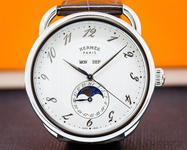 Hermes 036756ww00 Arceau Grande Lune Automatic 43mm SS