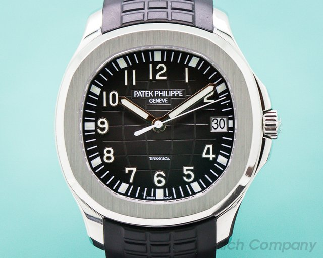 """Patek Philippe 5167/1A-001 Aquanaut SS """"TIFFANY & CO"""" + Rubber Strap & Buckle"""