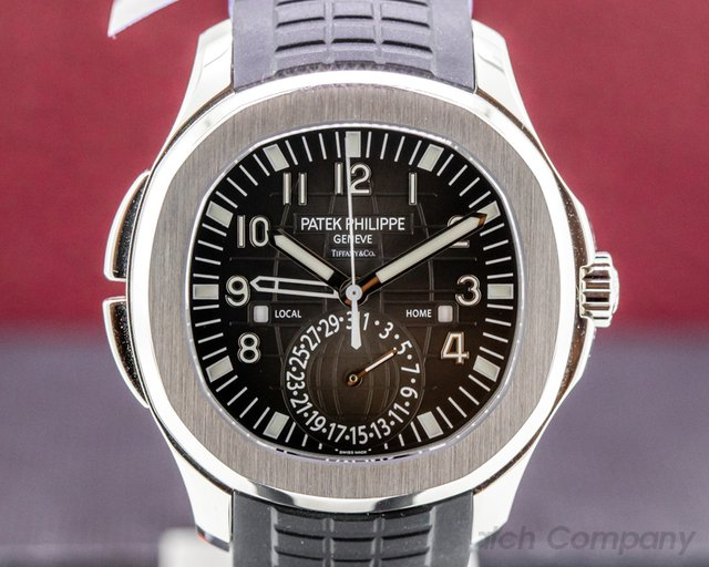 "Patek Philippe 5164A-001 Aquanaut Travel Time 5164A ""TIFFANY & CO"" SS / Rubber"