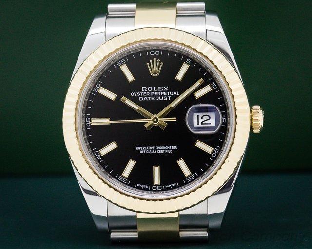 Rolex 116333 Datejust II 18K / SS Black Dial