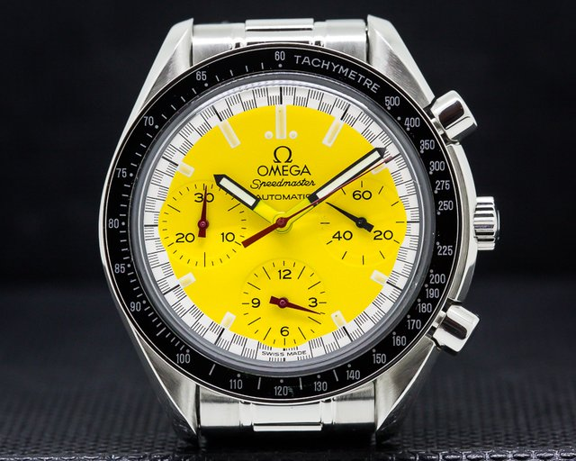"Omega 3810.12.40 Speedmaster ""Michael Schumacher"" Yellow Dial"