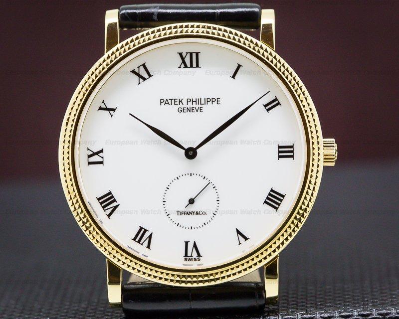 "Patek Philippe 3919J-001 Calatrava 18K Yellow Gold ""TIFFANY & CO"""