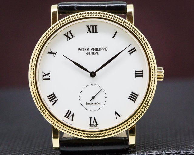 "Patek Philippe 3919J-001 Calatrava 18K Yellow Gold ""TIFFANY & CO"""
