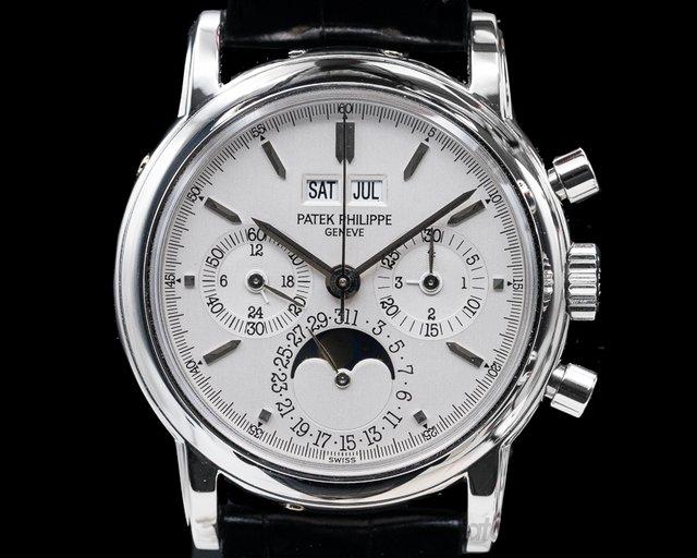 Patek Philippe 3970P Perpetual Calendar Chronograph Platinum Silver Dial