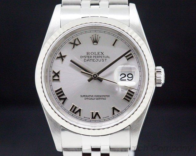 Rolex 16234 Datejust SS Grey Dial/White Gold Bezel