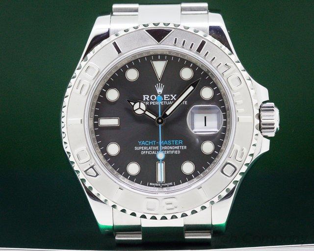 Rolex 116622 Yacht Master SS Rhodium Dial / Platinum Bezel