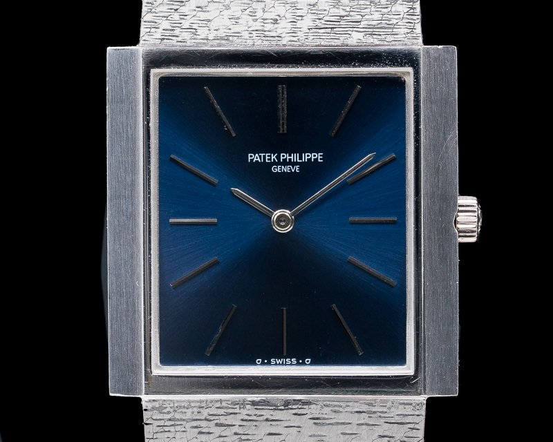 Patek Philippe 3571/1 Gondolo 18K White Gold Manual Wind Blue Dial