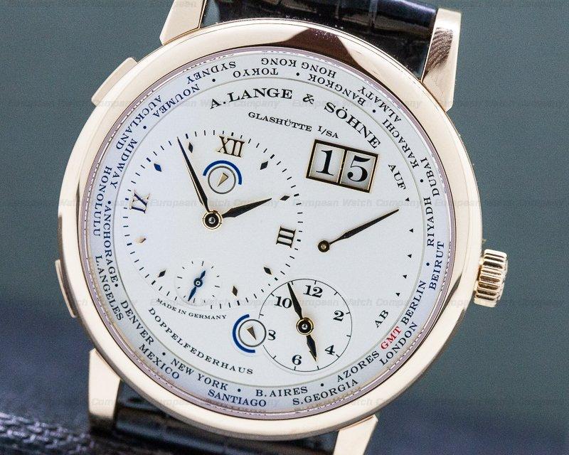 A. Lange and Sohne 116.032 Lange 1 Time Zone 18K Rose Gold