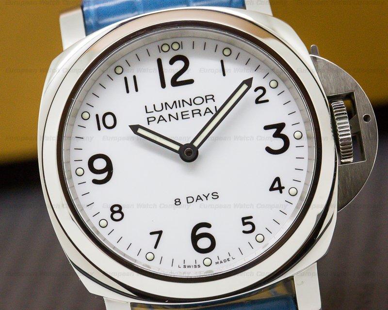 Panerai PAM00561 Luminor Base SS White Dial 44MM 8 Days