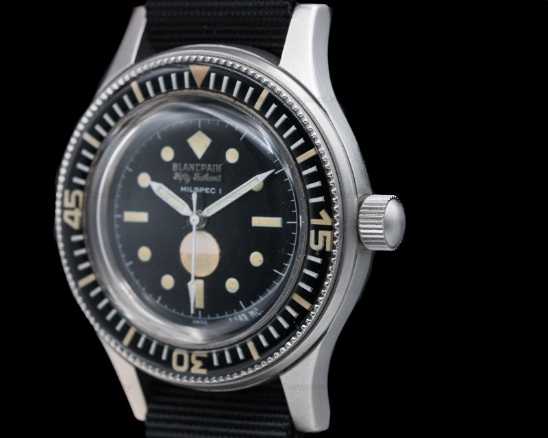"Blancpain Fifty Fathoms Milspec 1 Fifty Fathoms Milspec 1 ""Demolition"" Civilian 1970s RARE"