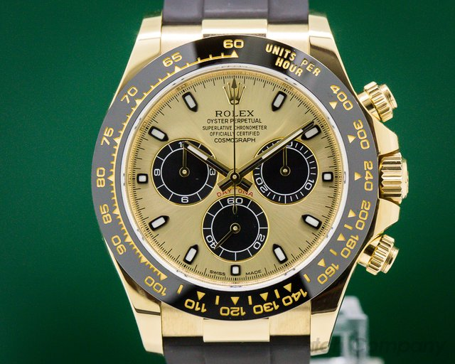 Rolex 116518CBKSR Cosmograph Daytona Ceramic 18K Yellow Gold / Champagne Dial