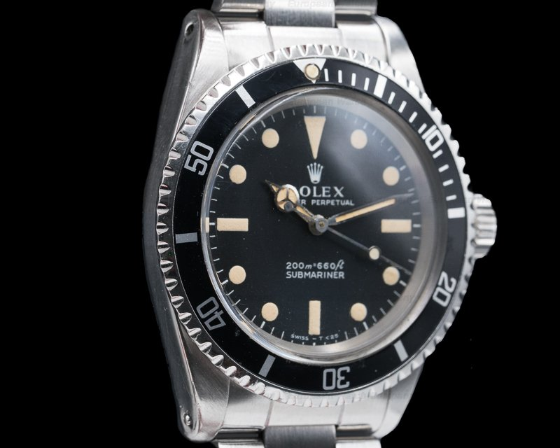 "Rolex 5513 Vintage Submariner 5513 ""Meters First"" SS VERY NICE"