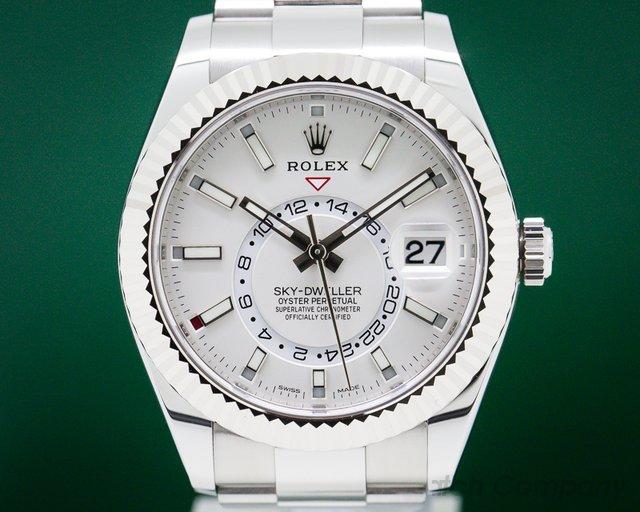 Rolex 326934 Sky Dweller Steel White Dial SS UNWORN