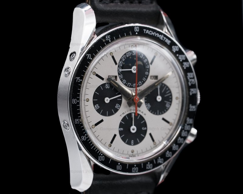 "Universal Geneve 881101/01 Vintage ""Clapton"" Tri Compax SS Panda NICE"