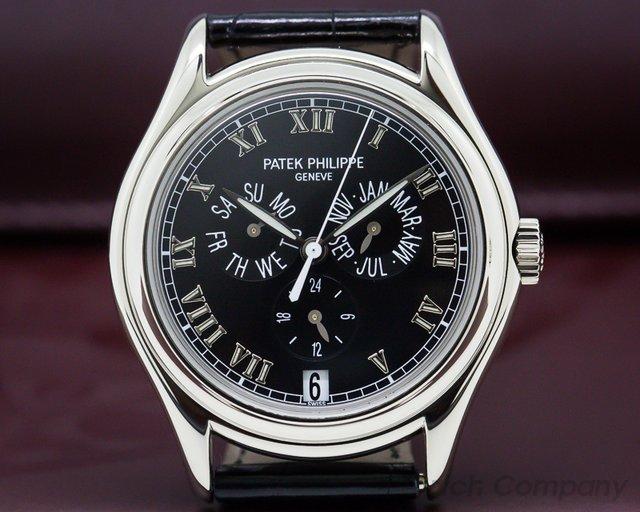 Patek Philippe 5035G Annual Calendar 18K White Gold Black Dial