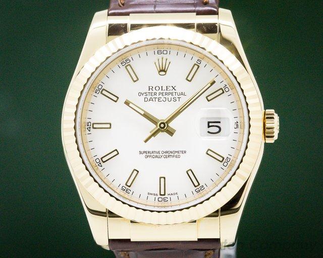 Rolex 116138 Datejust 18K Yellow Gold  / 18k Deployant Buckle