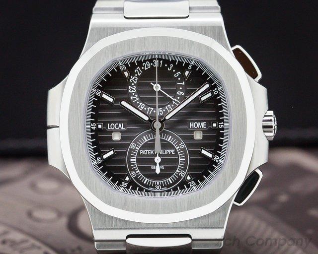 Patek Philippe 5990/1A-001 Nautilus Travel Time Chronograph Grey Dial SS / SS UNWORN