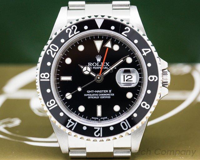 Rolex 16710 GMT Master II SS Black Bezel