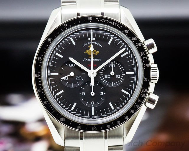 Omega 311.30.42.30.01.001 Speedmaster Chronograph Black Dial '50th Anniversary' LIMITED