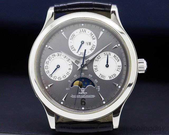 Jaeger LeCoultre 149347A Perpetual White Gold Grey Dial / 18K Deployant