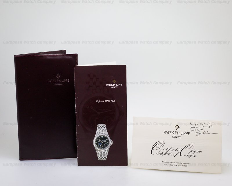 Patek Philippe 5085/1A-001 Power Reserve Moon Phase Black Dial SS / SS