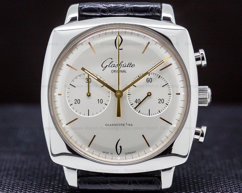 Glashutte Original 39-34-03-32-04 Senator Sixties Square Chronograph SS Silver Dial