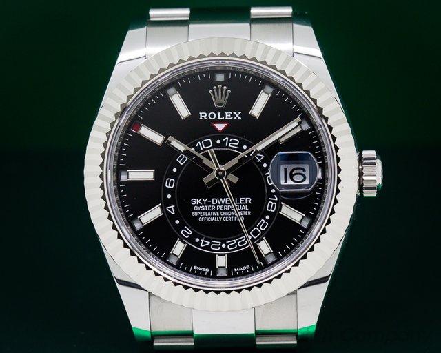 Rolex 326934 Sky Dweller Steel Black Dial