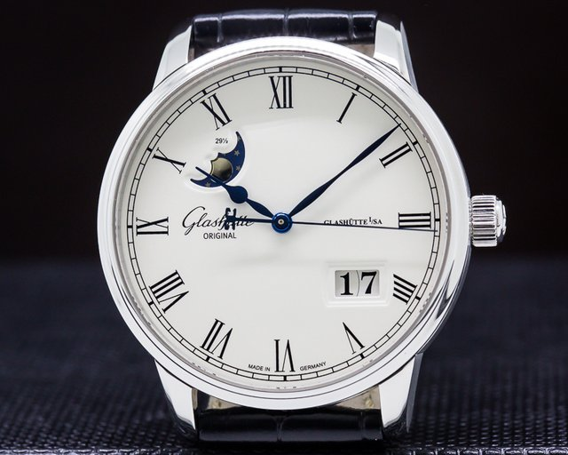 Glashutte Original 100-04-32-12-04 Senator Panorama Date Moon Phase SS