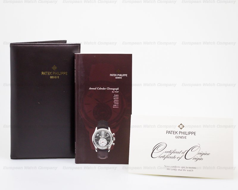 Patek Philippe 5960P-001 Annual Calendar Chronograph Platinum Grey Dial UNWORN DOUBLE SEALED