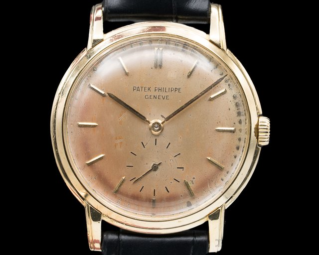 Patek Philippe 2484J 2484 Yellow Gold Manual Tropical Dial  33MM