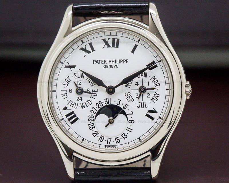 Patek Philippe 3940G Perpetual Calendar White Dial Roman 18K White Gold RARE