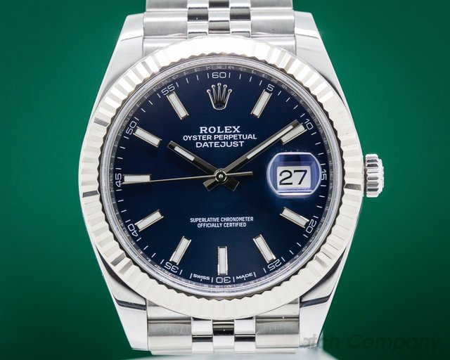 Rolex 126334 Datejust 41 Blue Stick Dial SS