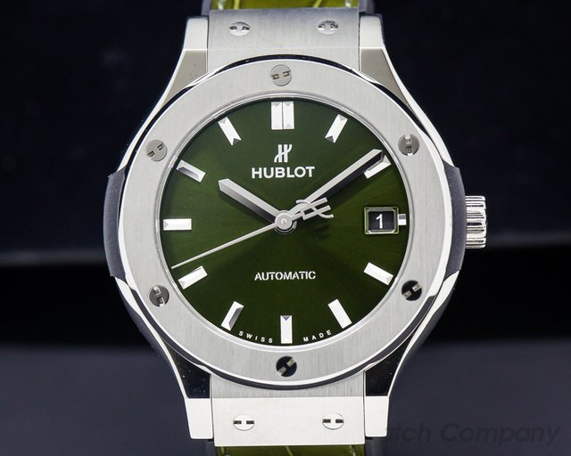 Hublot 511.NX.8970.LR Classic Fusion Titanium Green Dial 38MM