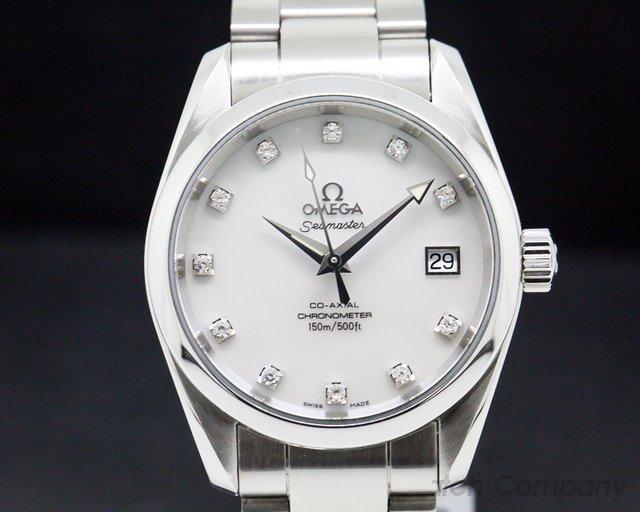Omega 2504.75.00 Seamaster Aqua Terra Co-Axial Master Mother of Pearl Diamond Markers SS